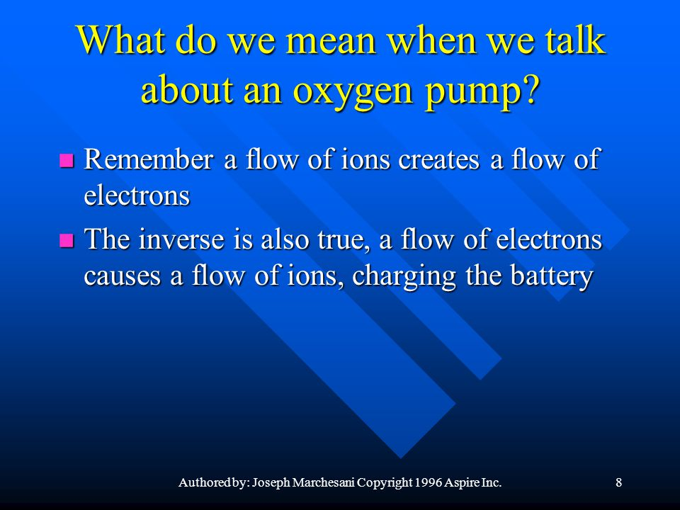 What do we mean when we talk about an oxygen pump