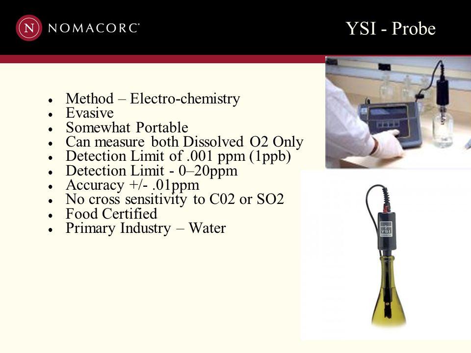 YSI - Probe Method – Electro-chemistry Evasive Somewhat Portable