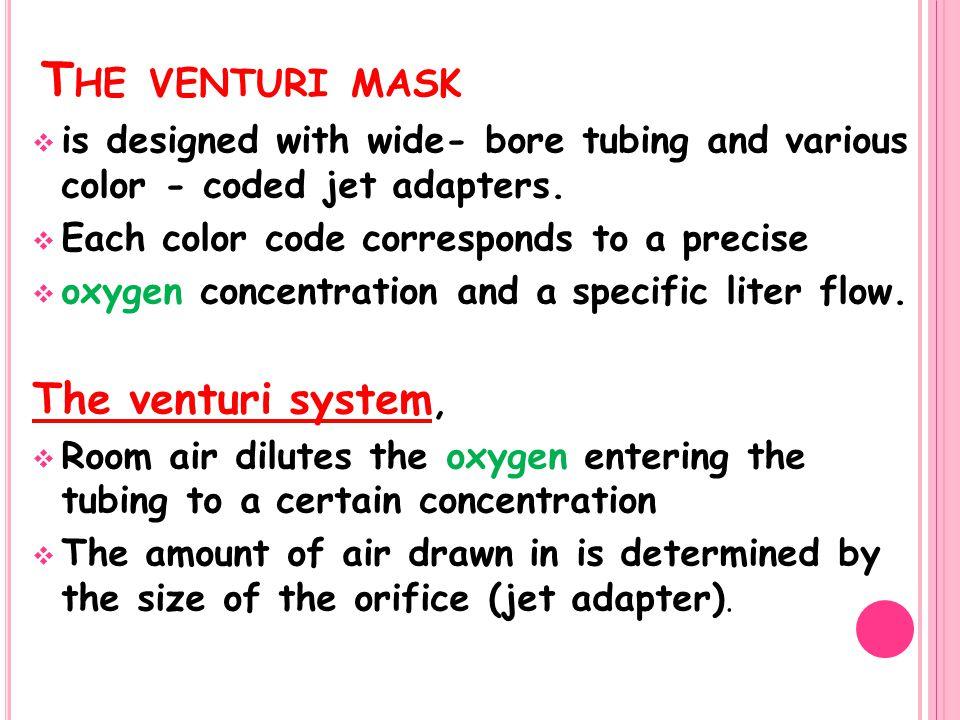 The venturi mask The venturi system,
