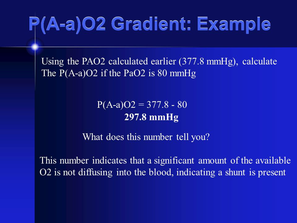 P(A-a)O2 Gradient: Example