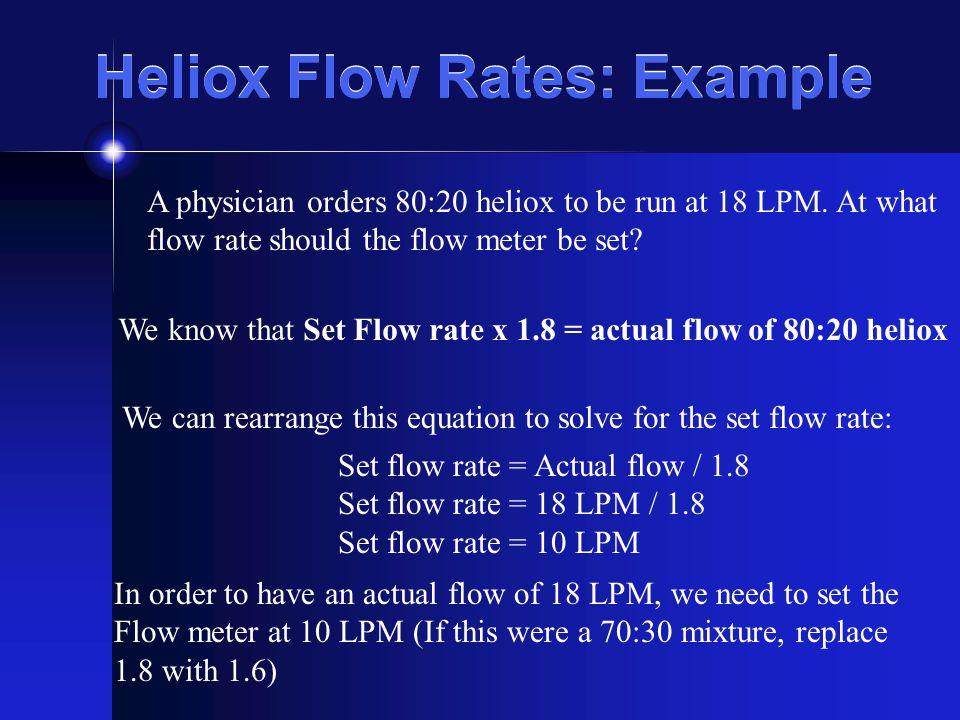 Heliox Flow Rates: Example