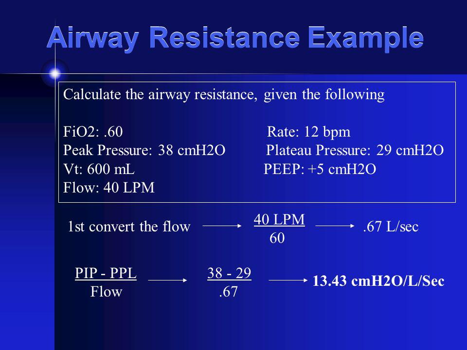 Airway Resistance Example