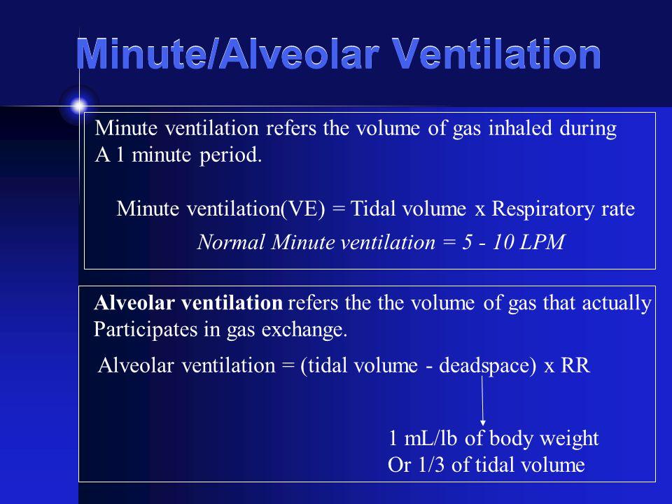Minute/Alveolar Ventilation