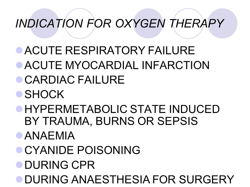INDICATION FOR OXYGEN THERAPY