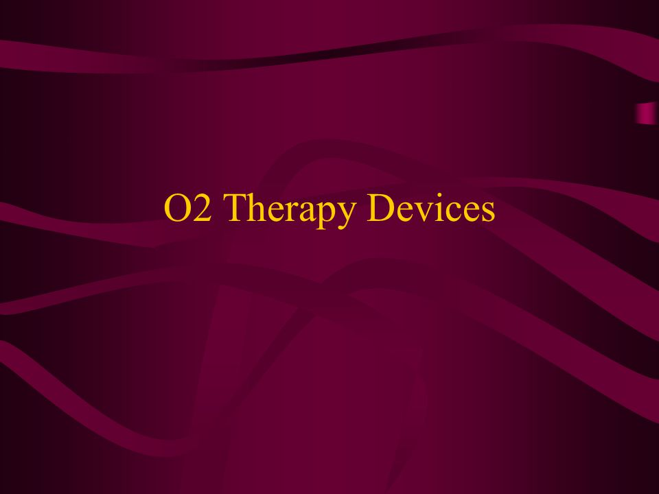 O2 Therapy Devices