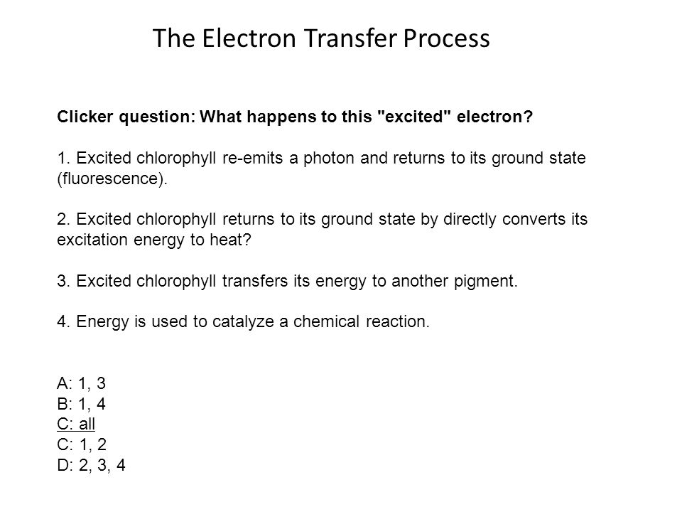 The Electron Transfer Process