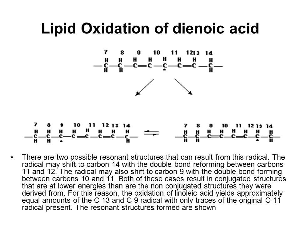 Lipid Oxidation of dienoic acid