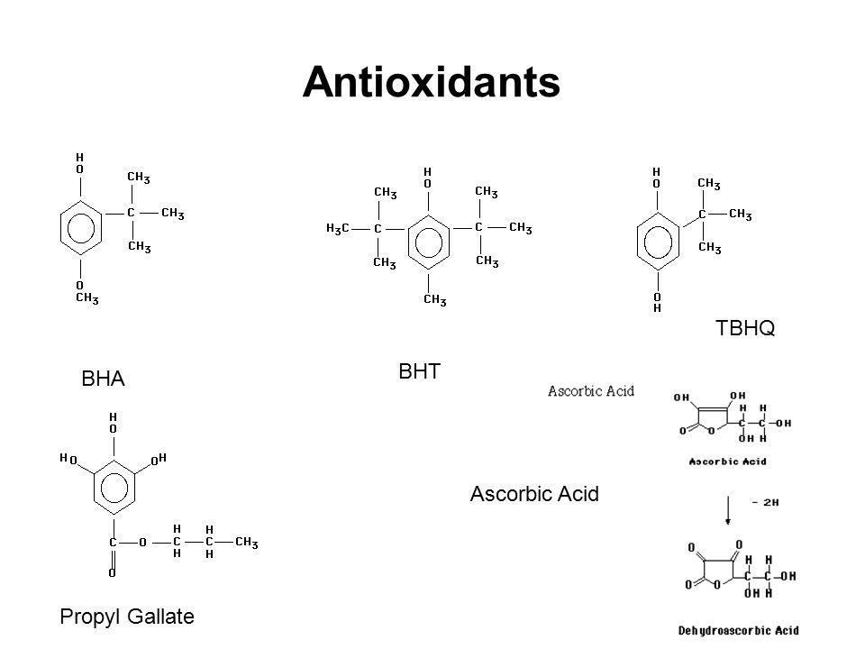 Antioxidants TBHQ BHT BHA Ascorbic Acid Propyl Gallate