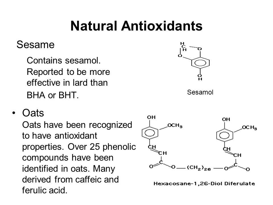 Natural Antioxidants Sesame