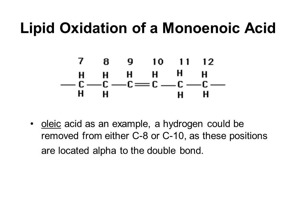 Lipid Oxidation of a Monoenoic Acid
