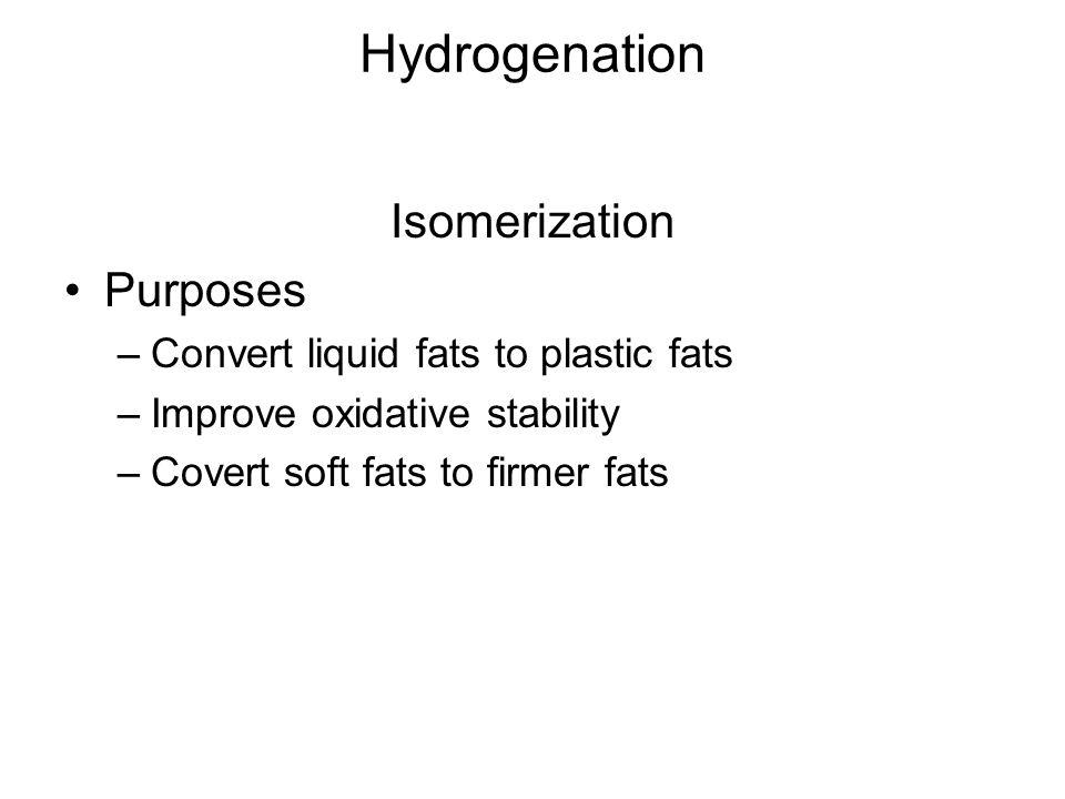 Hydrogenation Isomerization Purposes