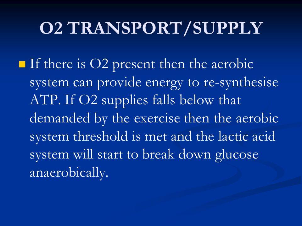 O2 TRANSPORT/SUPPLY