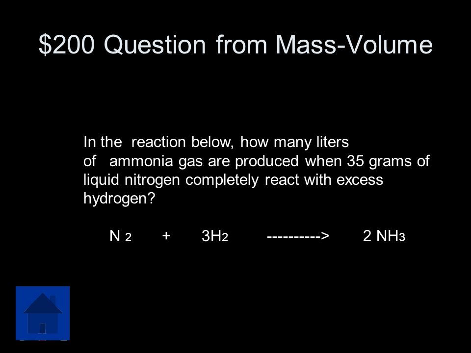 $200 Question from Mass-Volume