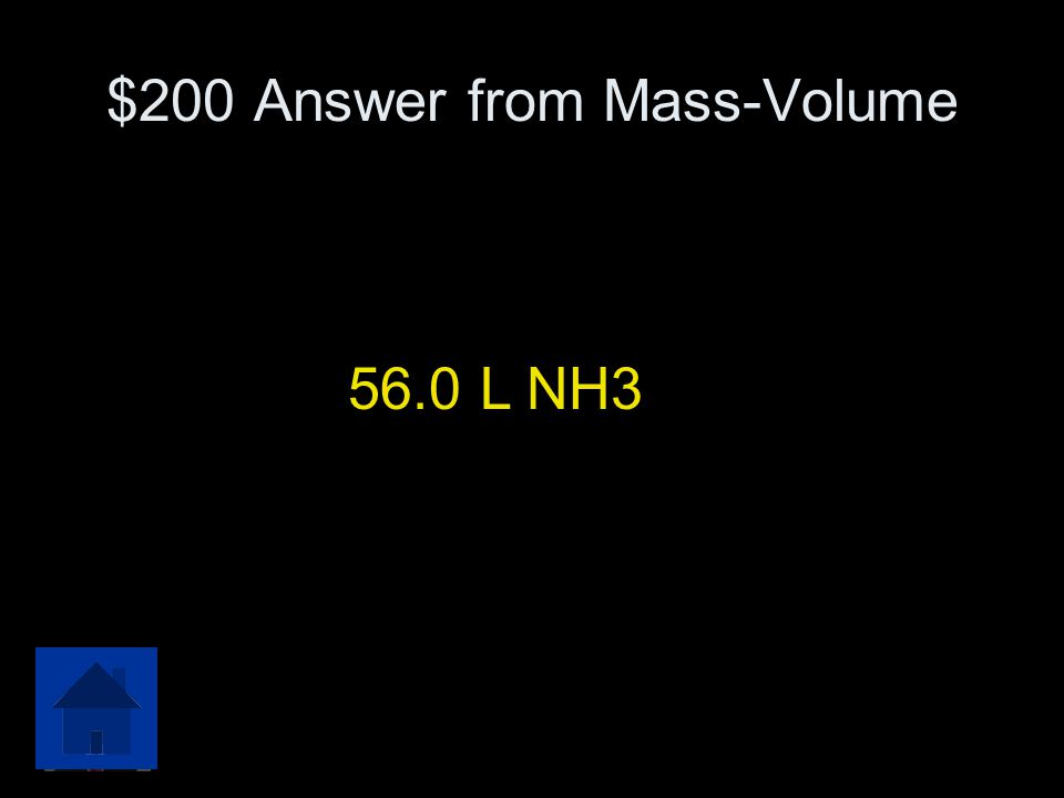 $200 Answer from Mass-Volume