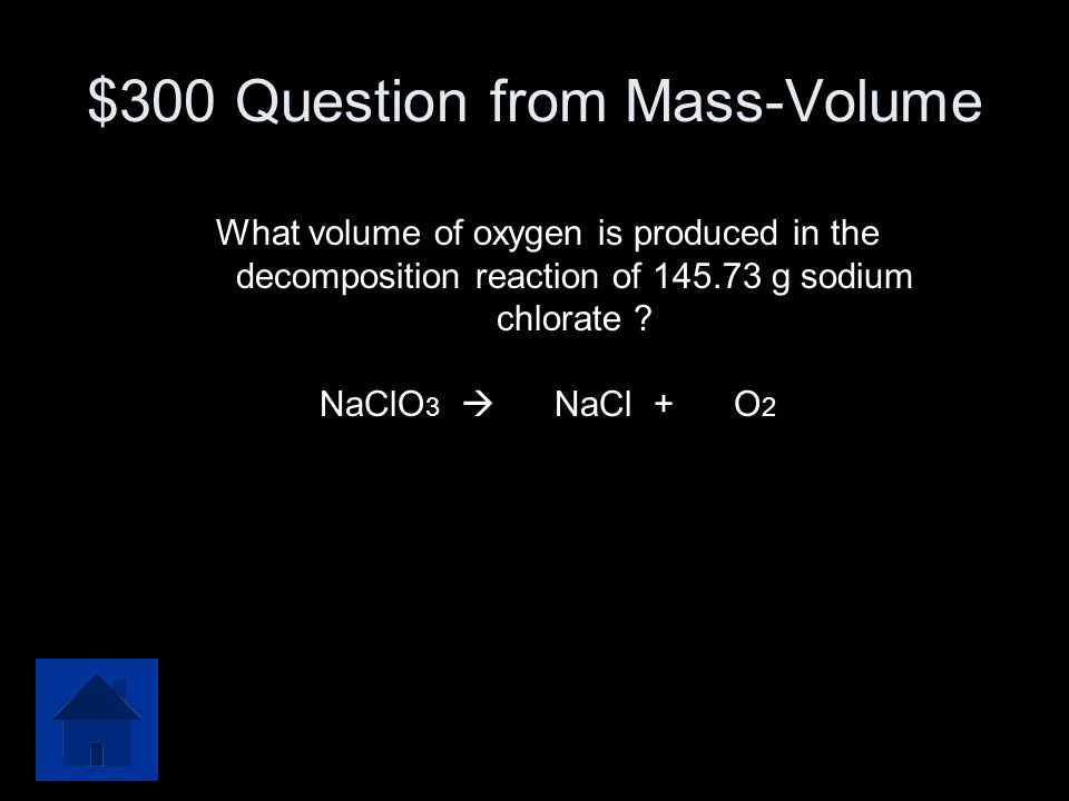 $300 Question from Mass-Volume