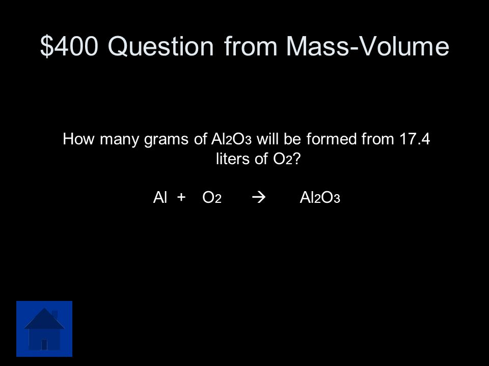 $400 Question from Mass-Volume