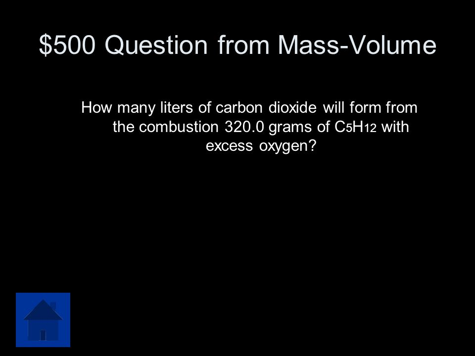 $500 Question from Mass-Volume