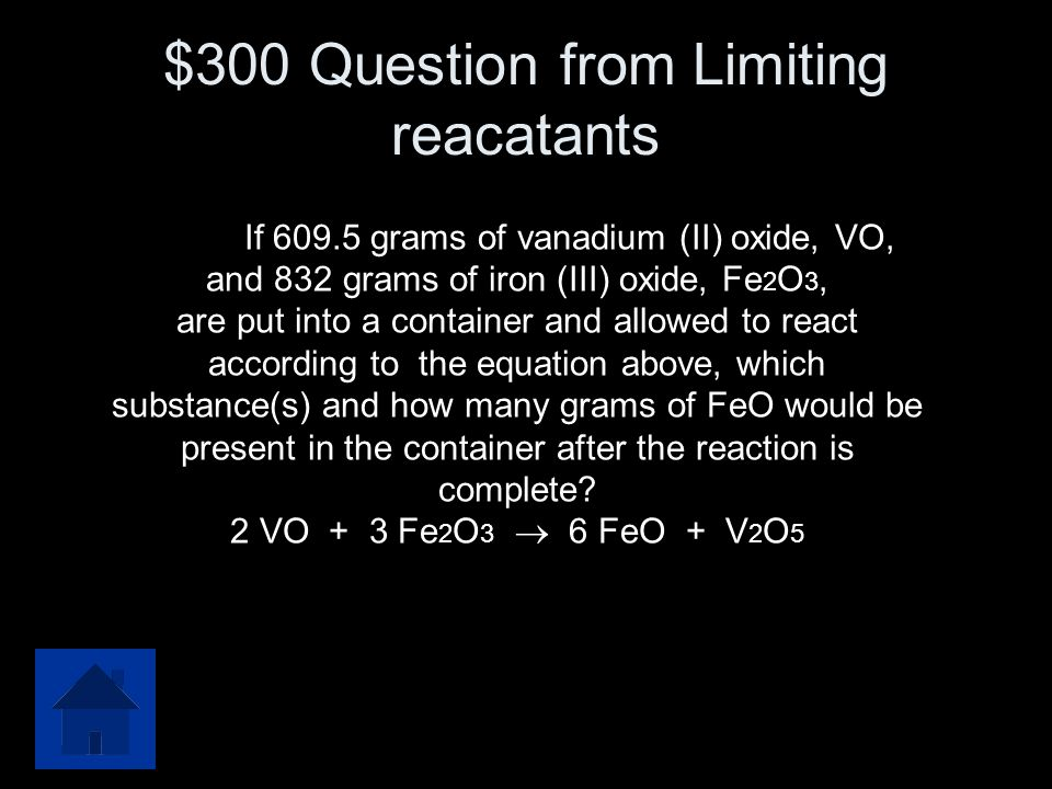 $300 Question from Limiting reacatants