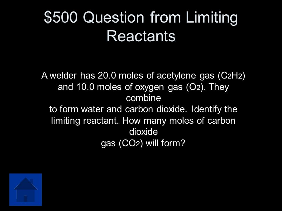 $500 Question from Limiting Reactants