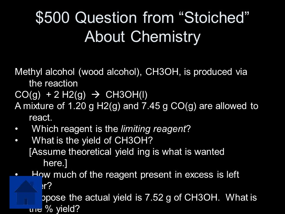 $500 Question from Stoiched About Chemistry