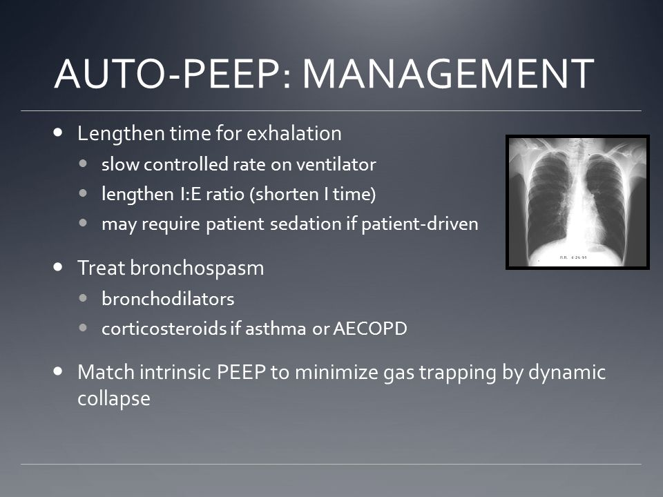 AUTO-PEEP: MANAGEMENT