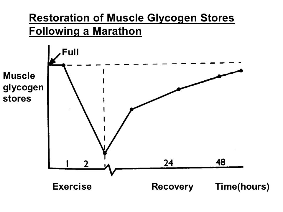 Restoration of Muscle Glycogen Stores Following a Marathon Full