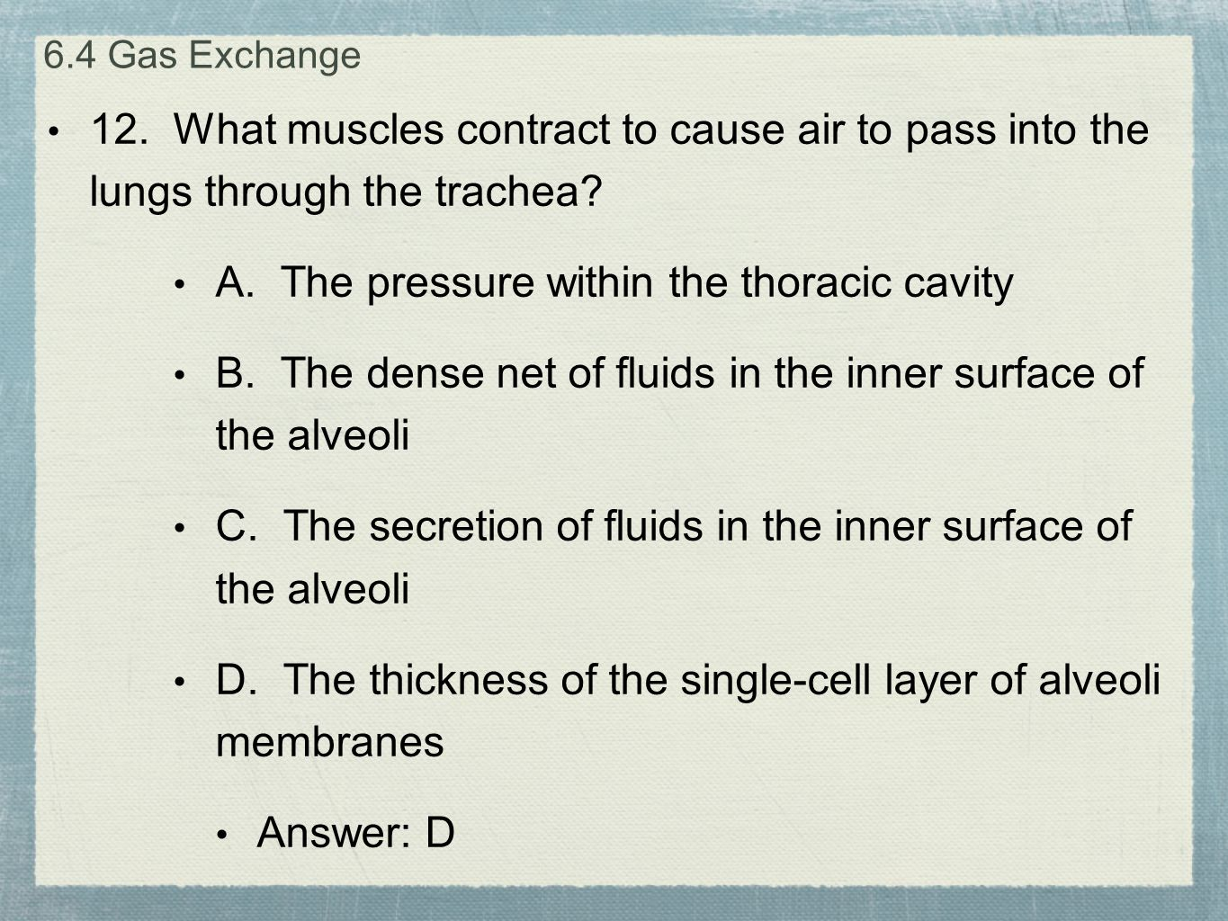 A. The pressure within the thoracic cavity