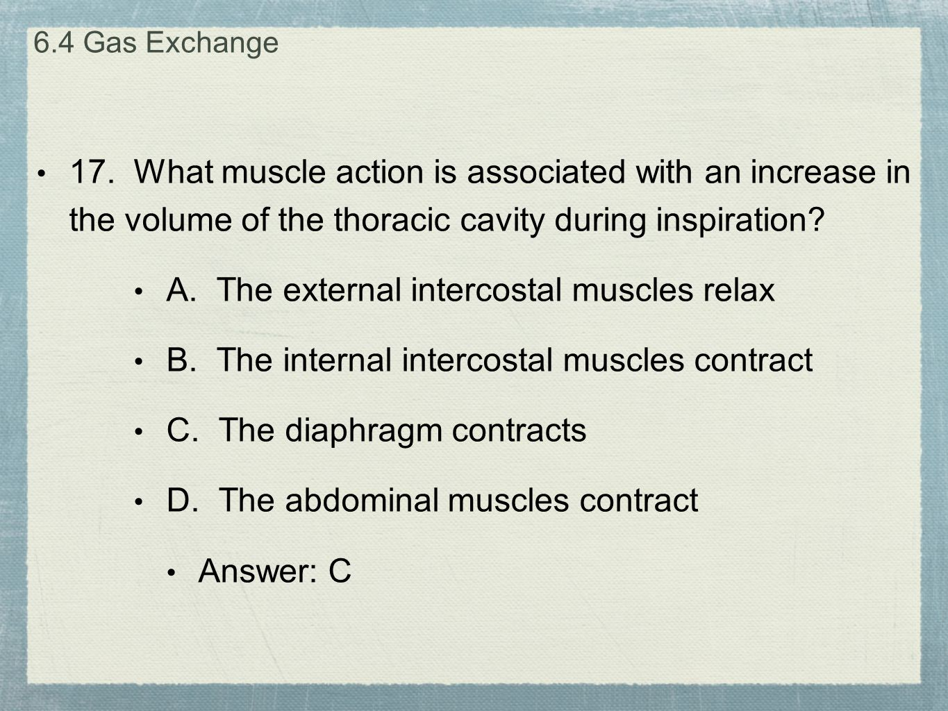 A. The external intercostal muscles relax