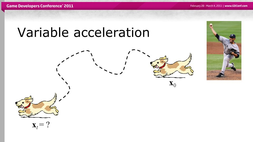 Variable acceleration