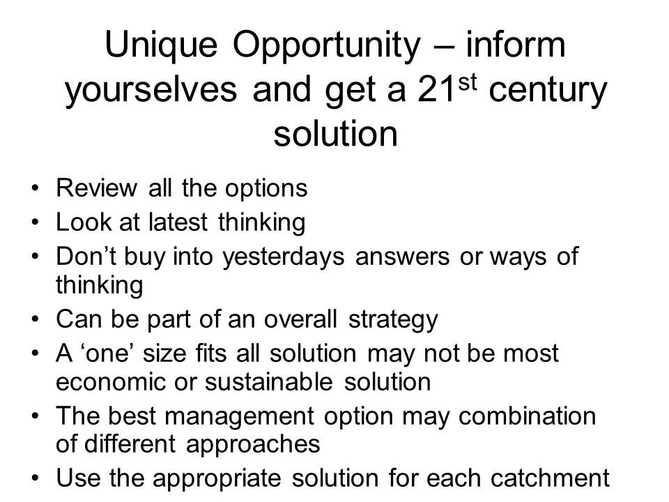 Unique Opportunity – inform yourselves and get a 21st century solution