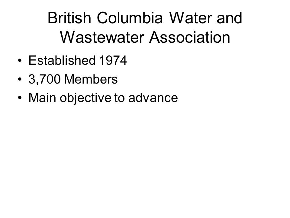 British Columbia Water and Wastewater Association