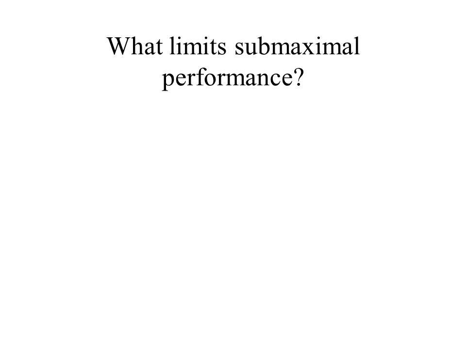 What limits submaximal performance