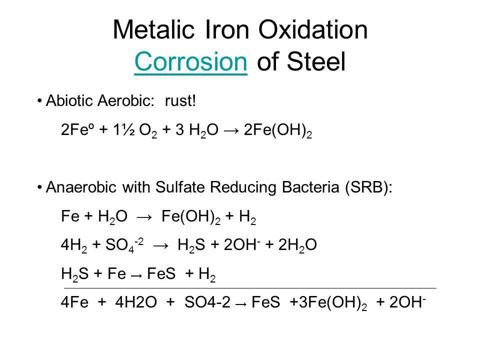 Metalic Iron Oxidation Corrosion of Steel