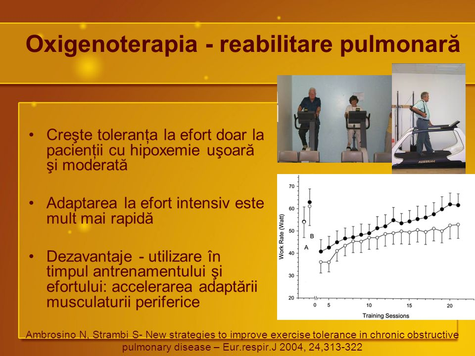 Oxigenoterapia - reabilitare pulmonară