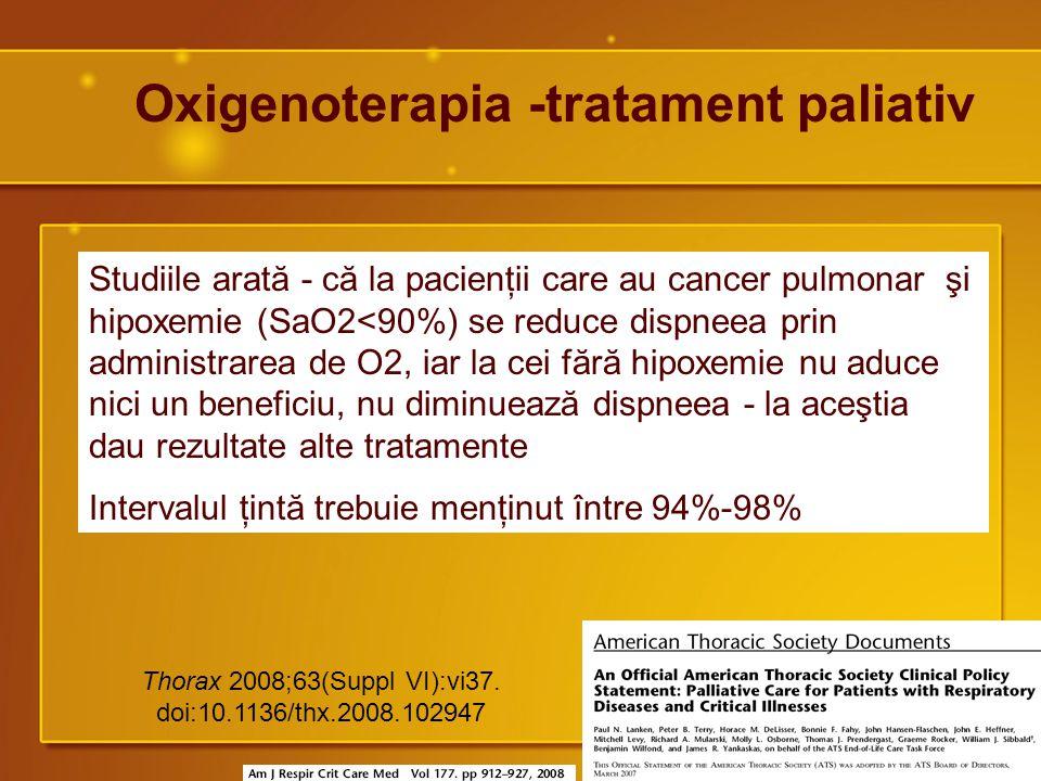 Oxigenoterapia -tratament paliativ