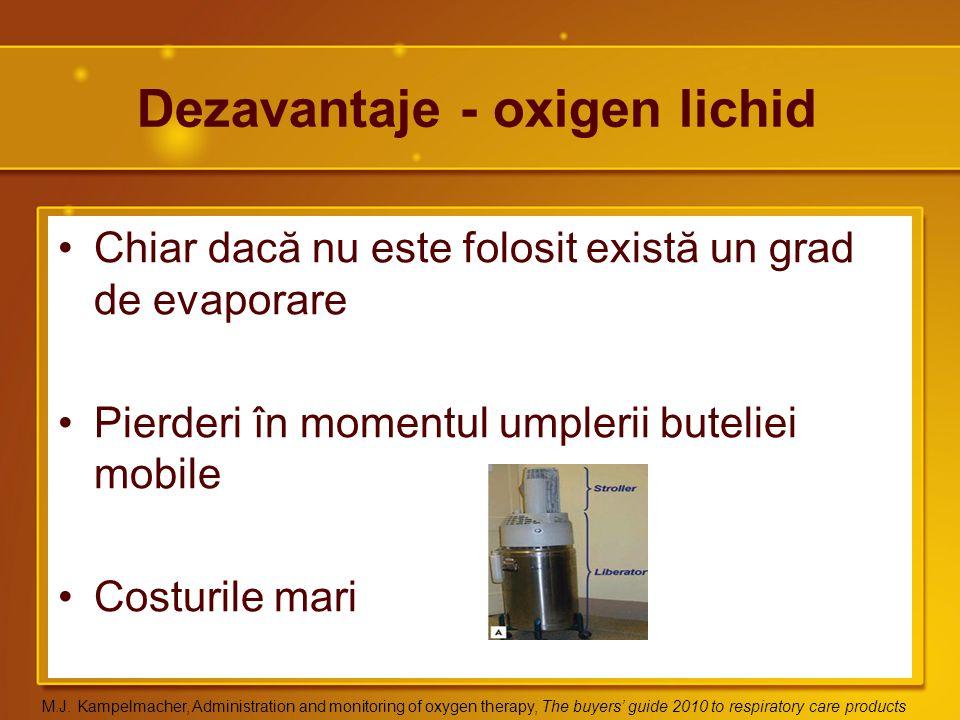 Dezavantaje - oxigen lichid