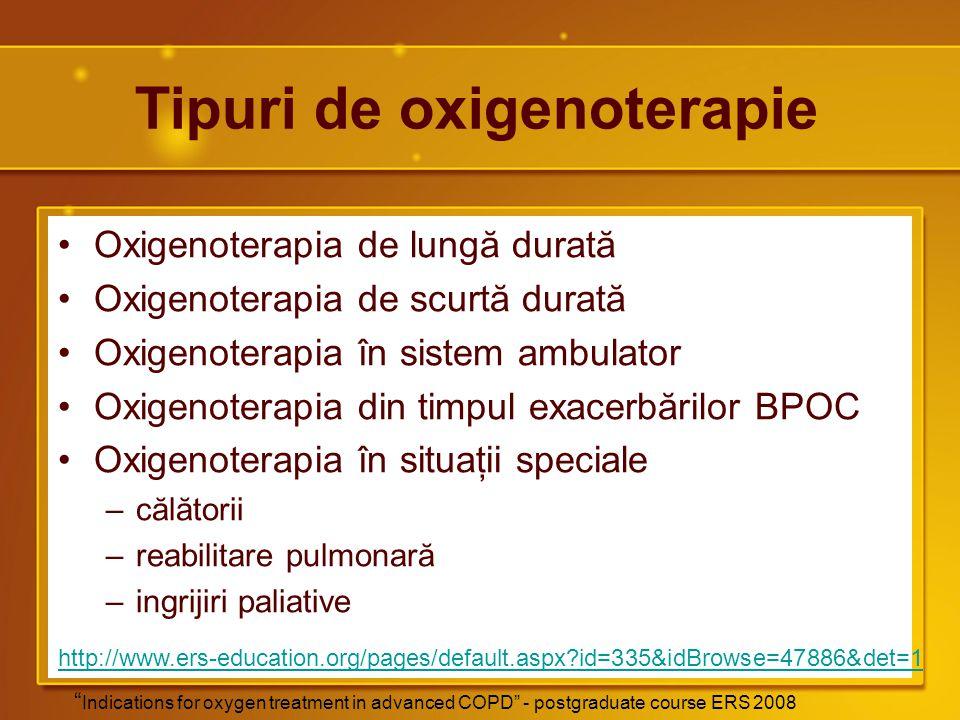 Tipuri de oxigenoterapie