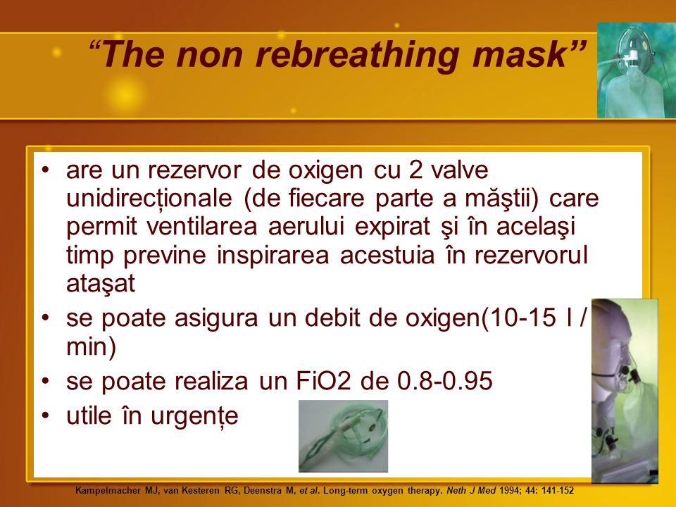 The non rebreathing mask