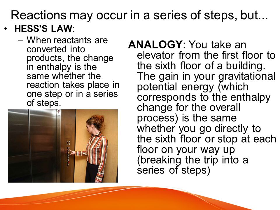 Reactions may occur in a series of steps, but...