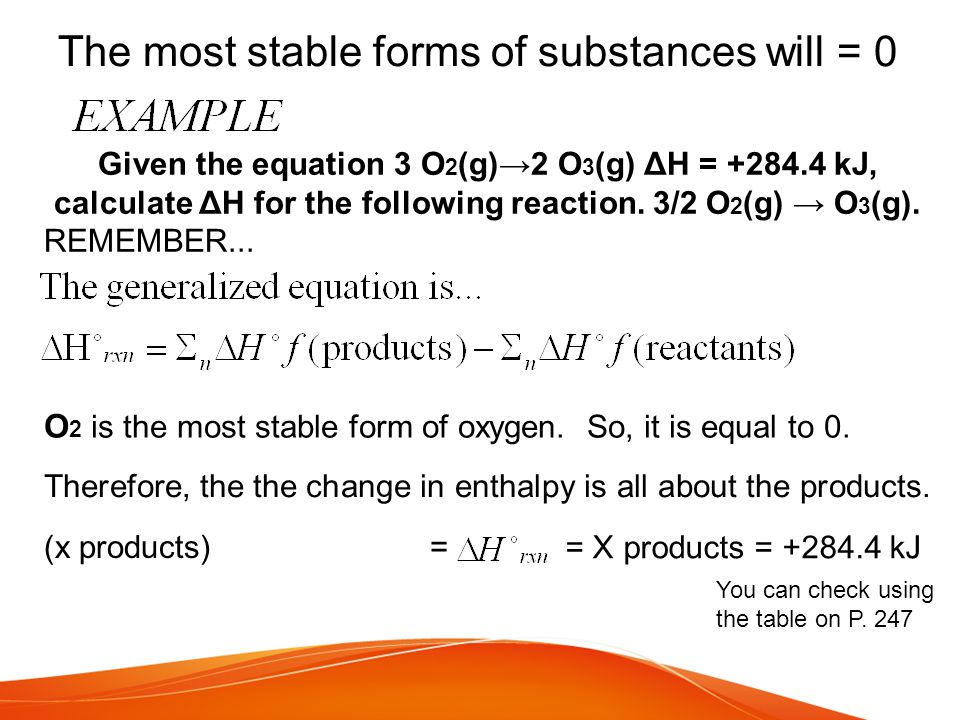 The most stable forms of substances will = 0