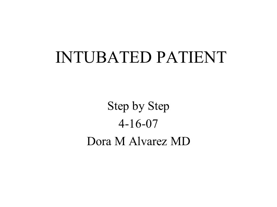 Step by Step 4-16-07 Dora M Alvarez MD
