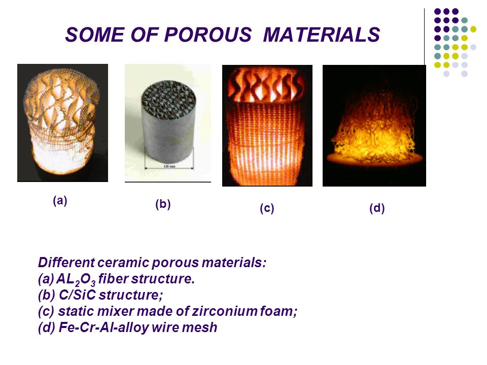 SOME OF POROUS MATERIALS