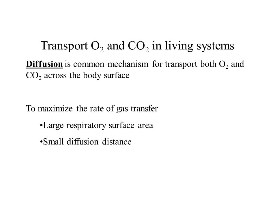 Transport O2 and CO2 in living systems