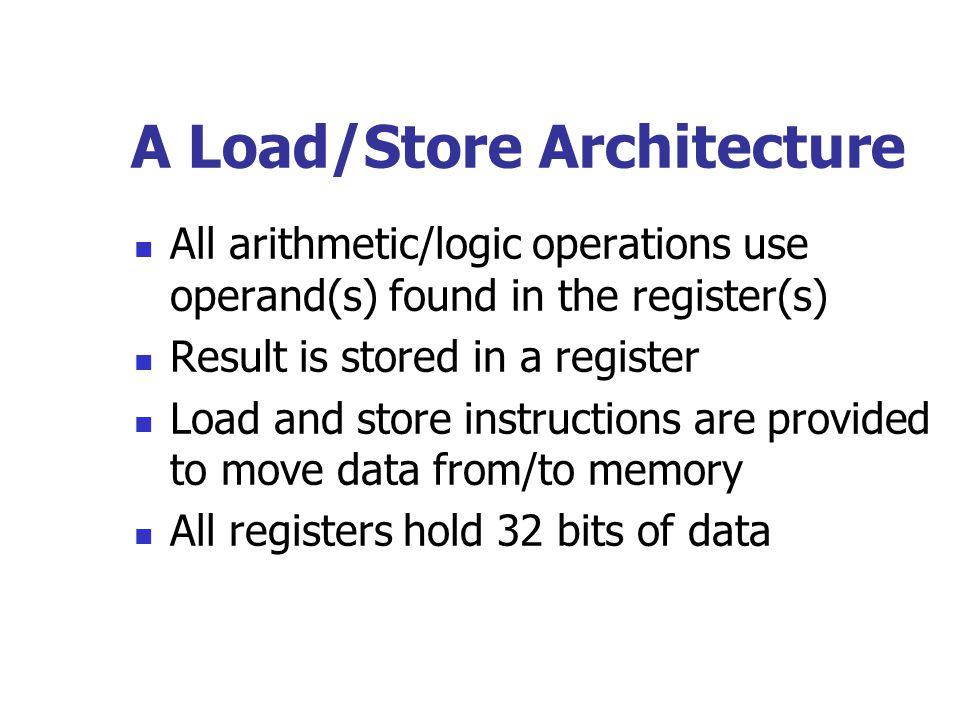 A Load/Store Architecture