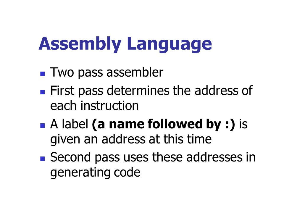 Assembly Language Two pass assembler