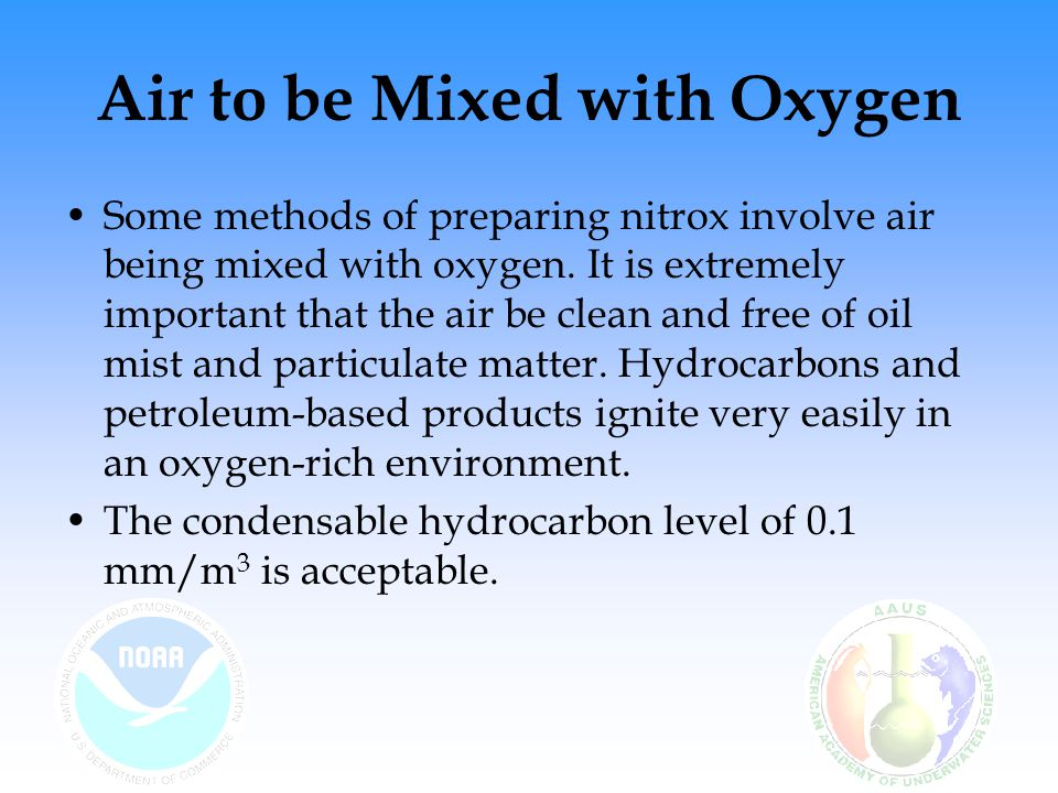 Air to be Mixed with Oxygen