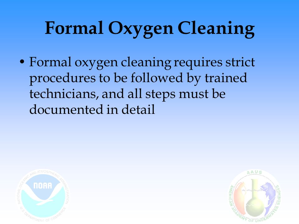 Formal Oxygen Cleaning