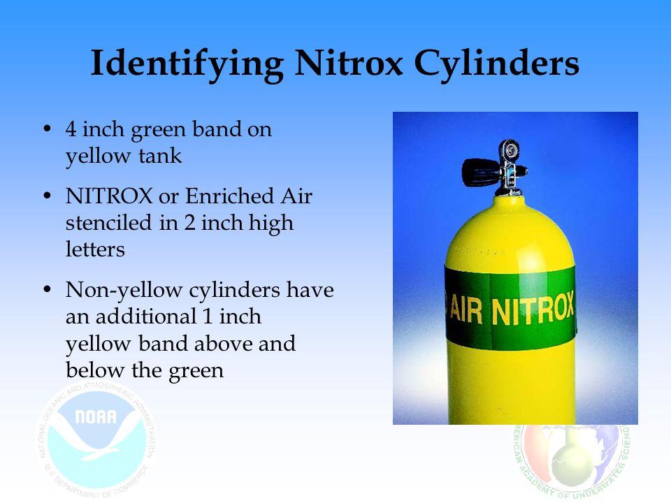 Identifying Nitrox Cylinders