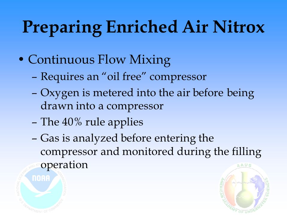 Preparing Enriched Air Nitrox