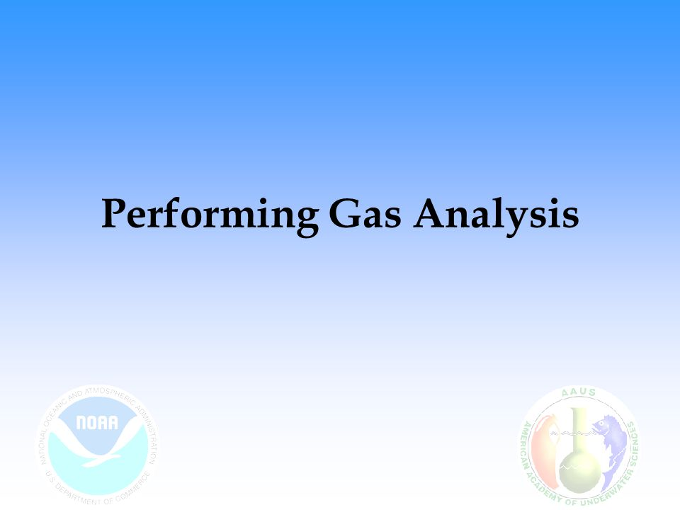 Performing Gas Analysis